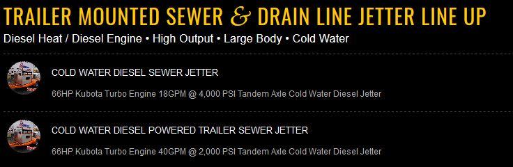 Large Diesel XtremeFlow Series Line Up